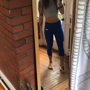 Royal blue nike crops